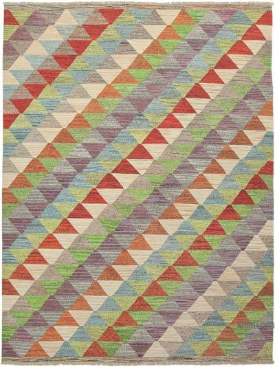 "New Contemporary Handwoven Kilim Rug - 9' 1"" x 12' 3"" (109 in. x 147 in.) - Vintage Yarn"