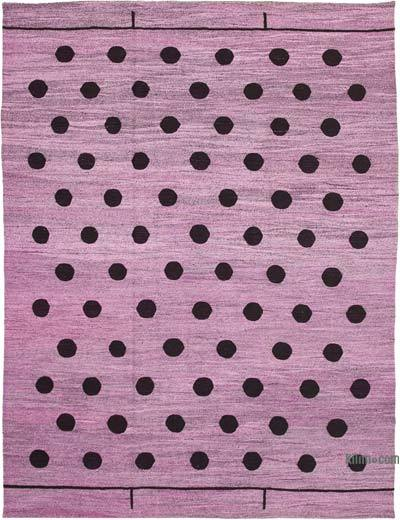 """New Contemporary Handwoven Wool Rug - 10'1"""" x 14'1"""" (121 in. x 169 in.) - Old Yarn"""
