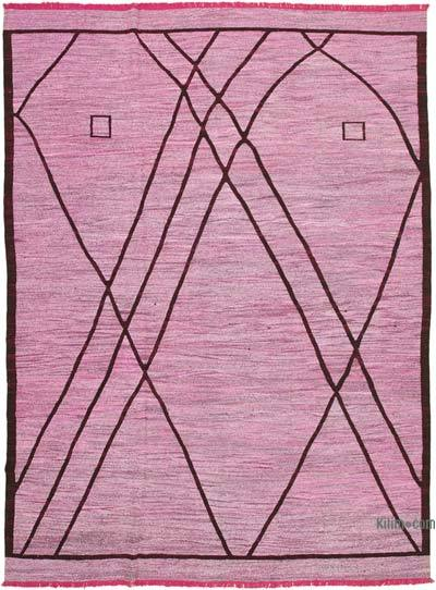 "New Contemporary Handwoven Kilim Rug - 9' 11"" x 14'  (119 in. x 168 in.) - Vintage Yarn"