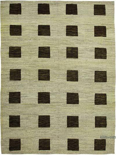 "New Contemporary Handwoven Kilim Rug - 10'  x 13' 11"" (120 in. x 167 in.) - Vintage Yarn"
