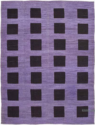"New Contemporary Handwoven Wool Rug - 10'3"" x 14'3"" (123 in. x 171 in.) - Old Yarn"