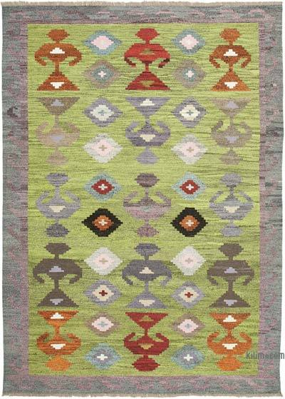 "New Contemporary Handwoven Kilim Rug - 9' 11"" x 13' 7"" (119 in. x 163 in.) - Vintage Yarn"