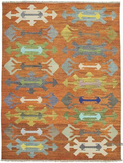 "New Contemporary Handwoven Wool Rug - 10' x 13'6"" (120 in. x 162 in.) - Old Yarn"