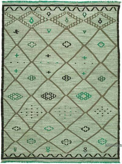 "New Contemporary Handwoven Kilim Rug - 10' 3"" x 14'  (123 in. x 168 in.) - Vintage Yarn"