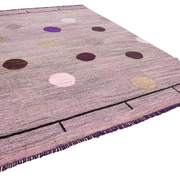 """New Contemporary Handwoven Kilim Rug - 10' 4"""" x 13' 11"""" (124 in. x 167 in.) - Vintage Yarn - K0039620"""