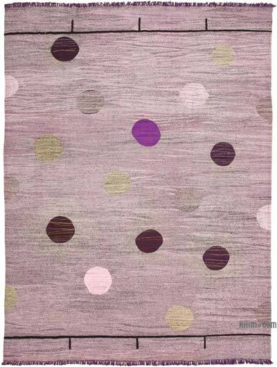 "New Contemporary Handwoven Wool Rug - 10'4"" x 13'11"" (124 in. x 167 in.) - Old Yarn"