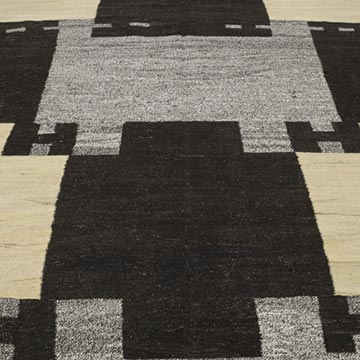 """New Contemporary Handwoven Kilim Rug - 8' 2"""" x 10' 4"""" (98 in. x 124 in.) - Vintage Yarn - K0039637"""