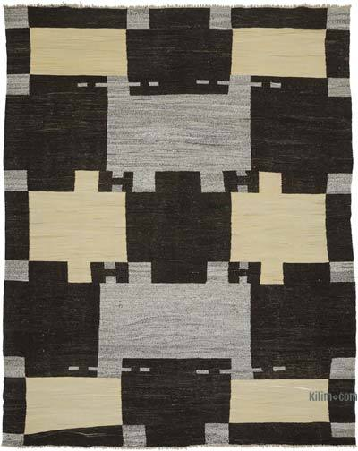 "New Contemporary Handwoven Kilim Rug - 8' 2"" x 10' 4"" (98 in. x 124 in.) - Vintage Yarn"