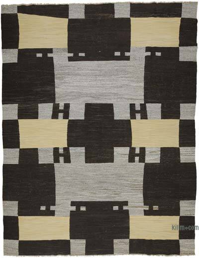 "New Contemporary Handwoven Kilim Rug - 10' 3"" x 13' 5"" (123 in. x 161 in.) - Vintage Yarn"