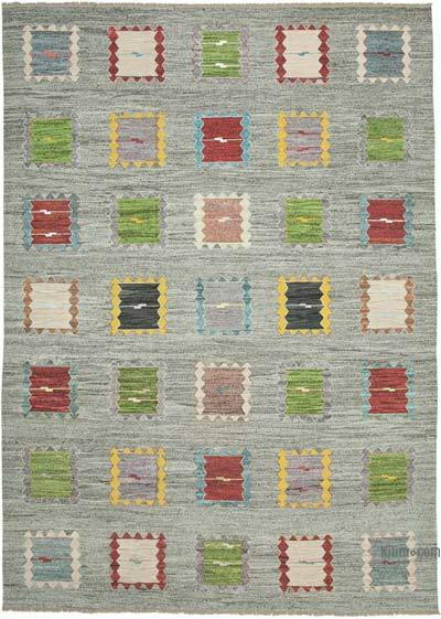 "New Contemporary Handwoven Kilim Rug - 10'  x 14' 2"" (120 in. x 170 in.) - Vintage Yarn"