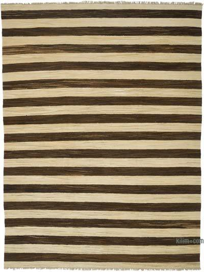 "New Contemporary Handwoven Wool Rug - 7'11"" x 10'9"" (95 in. x 129 in.) - Old Yarn"
