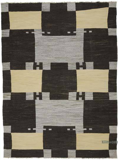 """New Contemporary Handwoven Kilim Rug - 9' 2"""" x 12' 6"""" (110 in. x 150 in.) - Vintage Yarn"""