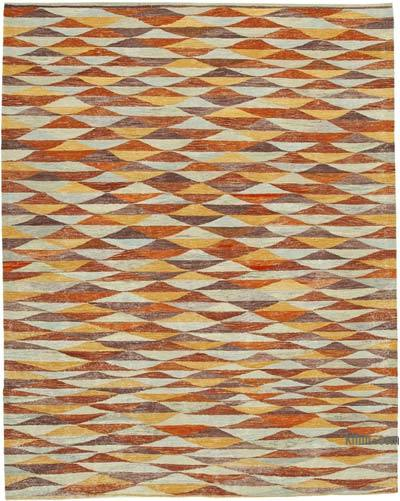 "New Contemporary Handwoven Kilim Rug - 8' 5"" x 10' 11"" (101 in. x 131 in.)"