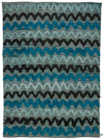 "New Contemporary Handwoven Kilim Rug - 8'1"" x 12' (97 in. x 144 in.) - Vintage Yarn"