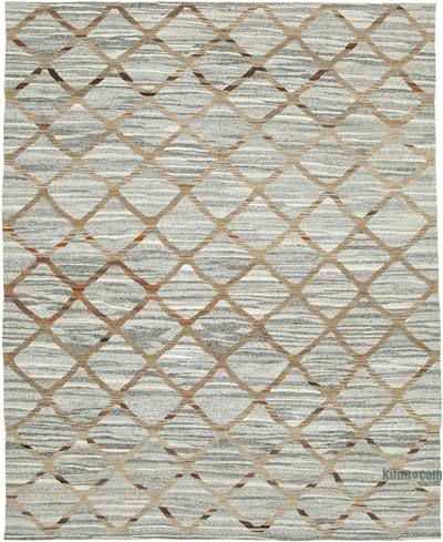 "New Contemporary Handwoven Kilim Rug - 8'2"" x 10'1"" (98 in. x 121 in.) - Vintage Yarn"
