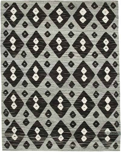 "New Contemporary Handwoven Wool Rug - 8' x 10'4"" (96 in. x 124 in.) - Old Yarn"