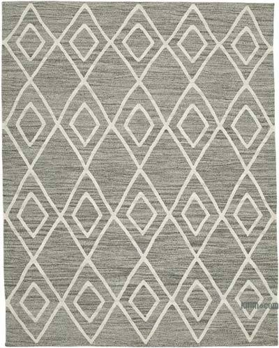 "New Contemporary Handwoven Kilim Rug - 7' 9"" x 10'  (93 in. x 120 in.) - Vintage Yarn"