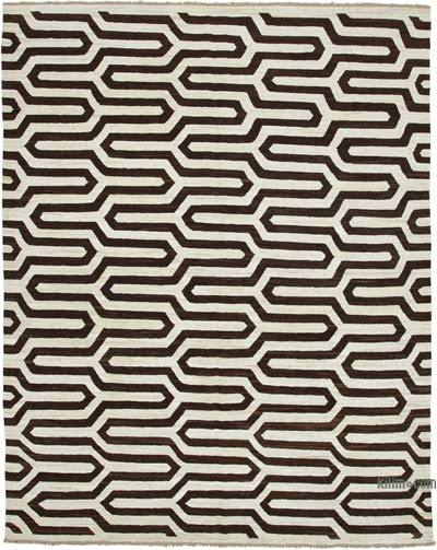 "New Contemporary Handwoven Wool Rug - 8' x 10'2"" (96 in. x 122 in.) - Old Yarn"