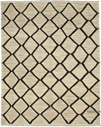 "New Contemporary Handwoven Kilim Rug - 8' 1"" x 10'  (97 in. x 120 in.) - Vintage Yarn"
