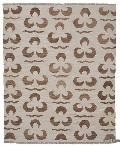 """New Contemporary Handwoven Kilim Rug - 8'4"""" x 10'1"""" (100 in. x 121 in.)"""