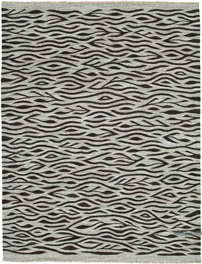 "New Contemporary Handwoven Kilim Rug - 8' 2"" x 10' 8"" (98 in. x 128 in.) - Vintage Yarn"