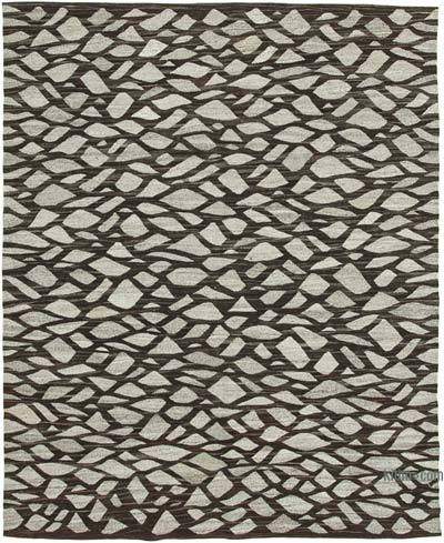 "New Contemporary Handwoven Kilim Rug - 8'1"" x 10'1"" (97 in. x 121 in.) - Vintage Yarn"