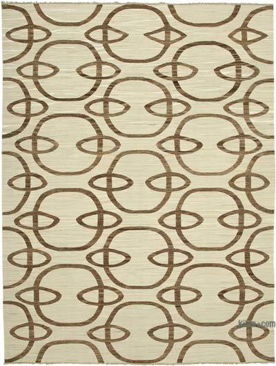 "New Contemporary Handwoven Kilim Rug - 9' 1"" x 12' 5"" (109 in. x 149 in.)"