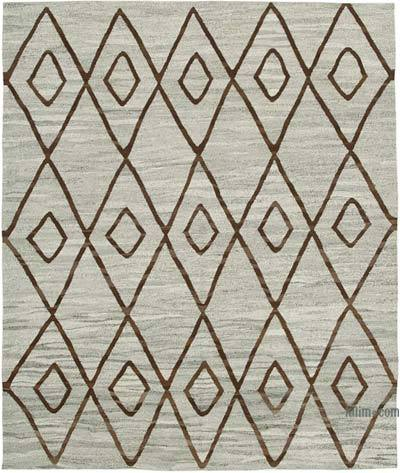 "New Contemporary Handwoven Kilim Rug - 8'  x 9' 6"" (96 in. x 114 in.) - Vintage Yarn"