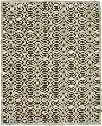 "New Contemporary Handwoven Kilim Rug - 7' 10"" x 10'  (94 in. x 120 in.) - Vintage Yarn"
