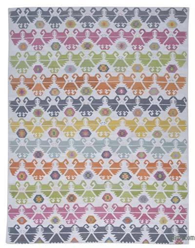 "New Contemporary Handwoven Kilim Rug - 9' 10"" x 12' 10"" (118 in. x 154 in.)"