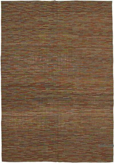 "New Contemporary Handwoven Kilim Rug - 8' 4"" x 11' 10"" (100 in. x 142 in.)"