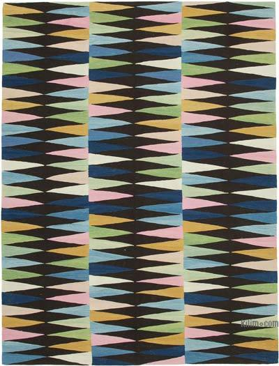 "New Contemporary Handwoven Kilim Rug - 7' 8"" x 10' 2"" (92 in. x 122 in.)"