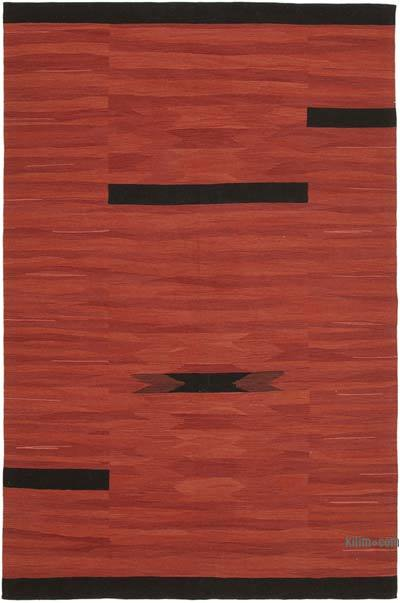 "New Contemporary Handwoven Kilim Rug - 7' x 10'8"" (84 in. x 128 in.)"