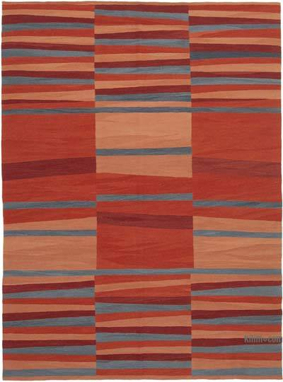 "New Contemporary Handwoven Kilim Rug - 7'6"" x 10'2"" (90 in. x 122 in.)"