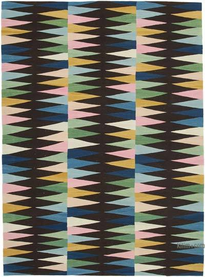 "New Contemporary Handwoven Kilim Rug - 7'4"" x 10' (88 in. x 120 in.)"