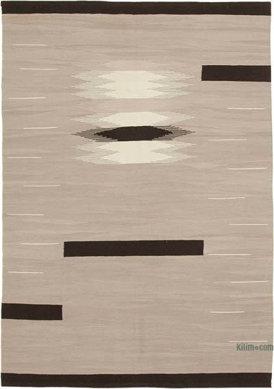 """New Contemporary Handwoven Kilim Rug - 5' 10"""" x 8' 4"""" (70 in. x 100 in.)"""