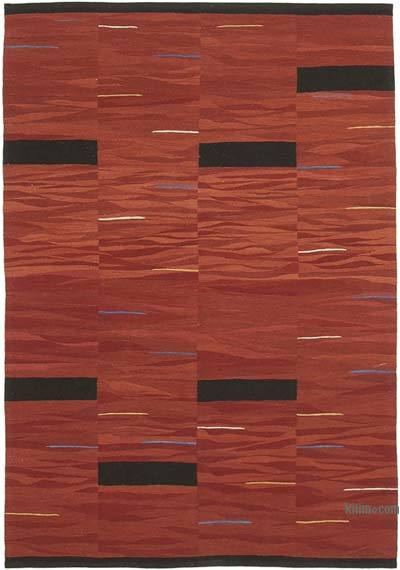 "New Contemporary Handwoven Kilim Rug - 5' 9"" x 8' 5"" (69 in. x 101 in.)"