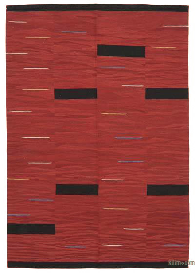 """New Contemporary Handwoven Kilim Rug - 5' 10"""" x 8' 6"""" (70 in. x 102 in.)"""