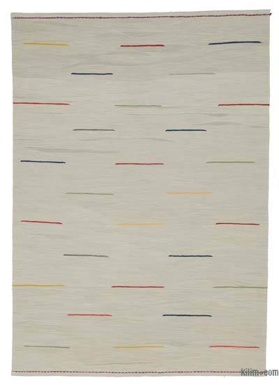 "New Contemporary Handwoven Kilim Rug - 5'9"" x 8'3"" (69 in. x 99 in.)"