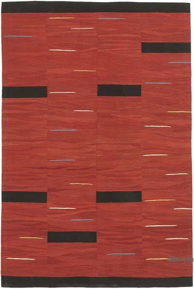 "New Contemporary Handwoven Kilim Rug - 5' 9"" x 8' 7"" (69 in. x 103 in.)"