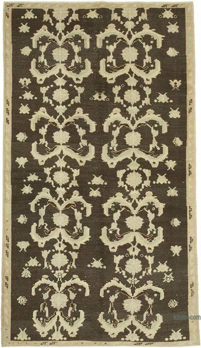 """All Wool Hand Knotted Vintage Area Rug - 5'1"""" x 9'1"""" (61 in. x 109 in.)"""