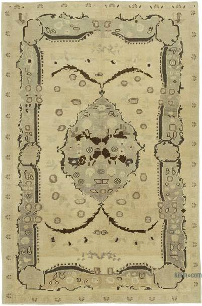 """All Wool Hand Knotted Vintage Area Rug - 5'  x 7' 7"""" (60 in. x 91 in.)"""