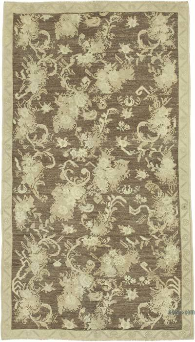 "All Wool Hand Knotted Vintage Area Rug - 4'4"" x 8' (52 in. x 96 in.)"