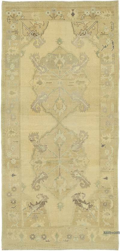 "All Wool Hand Knotted Vintage Area Rug - 4'  x 8' 8"" (48 in. x 104 in.)"