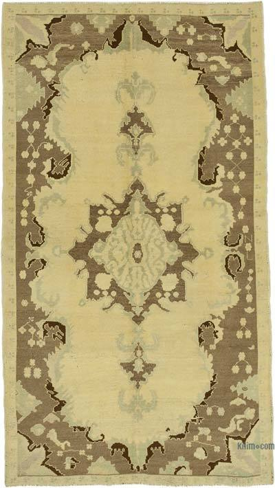 """All Wool Hand-Knotted Vintage Turkish Rug - 4' 6"""" x 8'  (54 in. x 96 in.)"""