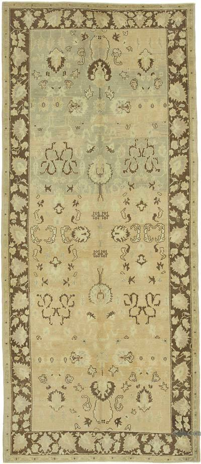 "All Wool Hand Knotted Vintage Area Rug - 4' 7"" x 10' 9"" (55 in. x 129 in.)"