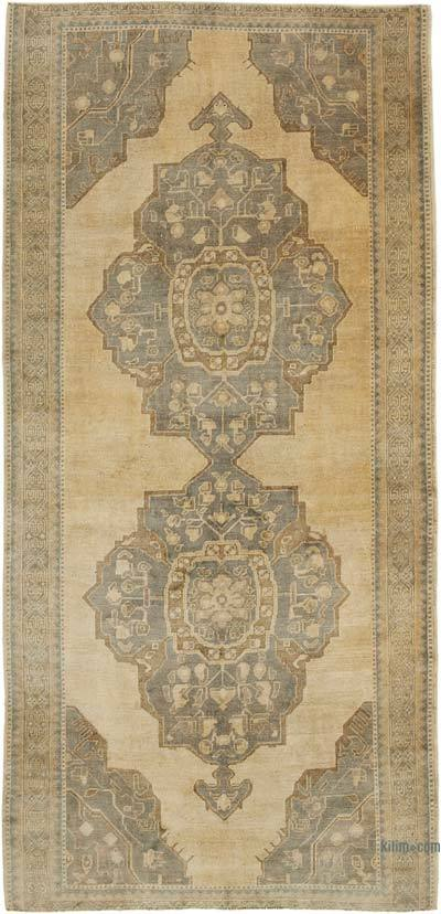 """All Wool Hand-Knotted Vintage Turkish Rug - 5'  x 10' 5"""" (60 in. x 125 in.)"""