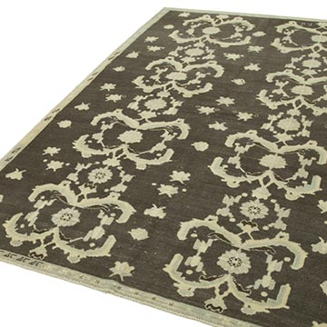 """All Wool Hand-Knotted Vintage Turkish Rug - 5' 6"""" x 8' 9"""" (66 in. x 105 in.) - K0039800"""