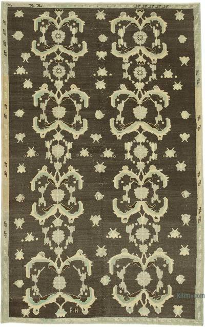 """All Wool Hand-Knotted Vintage Turkish Rug - 5' 6"""" x 8' 9"""" (66 in. x 105 in.)"""