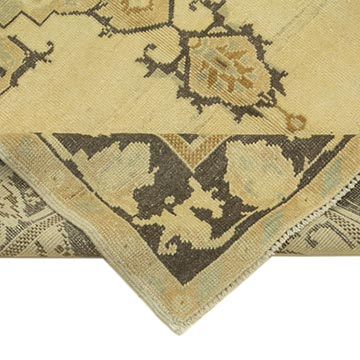 """All Wool Hand-Knotted Vintage Turkish Rug - 4' 6"""" x 7' 7"""" (54 in. x 91 in.) - K0039803"""